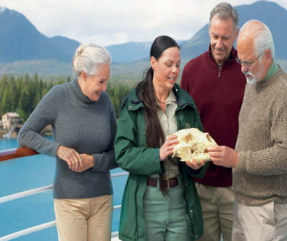 Naturalists onboard explain all the wilddlife