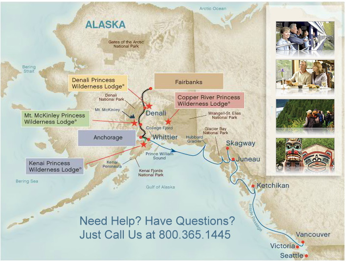 Alaska Cruises Denali National Park Sightseeing Options Alaska