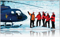 Helicopter Tour - Land on a glacier.