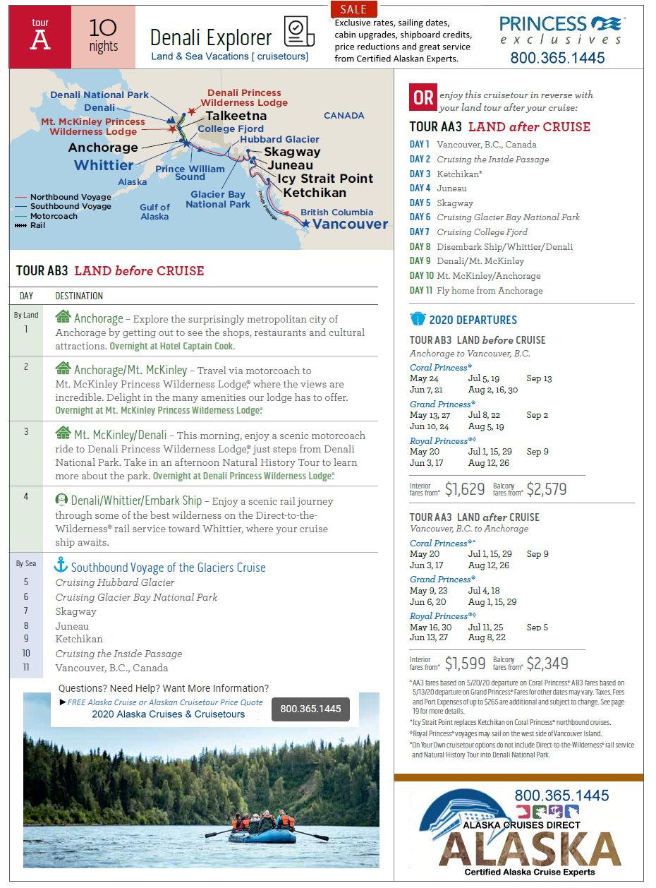Alaska Cruise Tours 2020.Alaska Cruises May To September Alaska Cruises